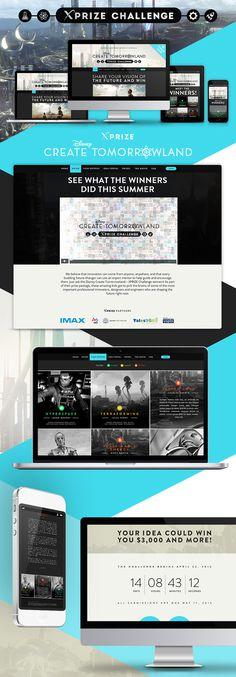 xPrize Disney - Web Design by weberous #ui #ux #weberous #css #html #website #webdevelopment #design #photoshop #userinterface #userexperie