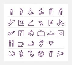 Virgin Atlantic – bespoke pictograms