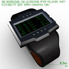 K sec LCD Travellers Watch #tech #amazing #modern #innovation #design #futuristic #gadget #ideas #craft #illustration #industrial #concept #art #cool