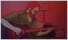 trying to think | Flickr - Photo Sharing! #guitar #daniel #illustration #petit