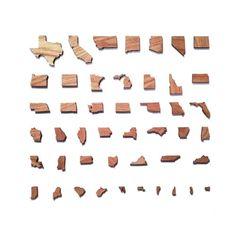 Things Organized Neatly #us #states #white #photo #design #square #minimal #usa #parallel