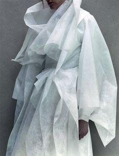 "Dazed Summer 2014, ""Pugh's Labyrinth"" #white #woman #labyrinth #textile #pughs #summer #dazed #fashion #coat"
