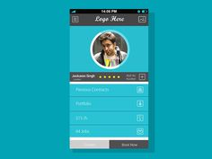 User Profile Screen For Mobile Apps