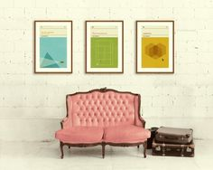 CONCEPCIONSTUDIOS Prints Wes Anderson #poster #interior #brick #couch #suitcase