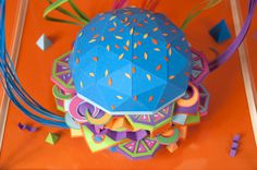 The Future ofFood #sculpture #color #diecut #handmade #paper #detail