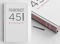Fahrenheit 451 Book Cover #book #farenheit #fire #matches #matchbook