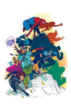 Fan Boy Superheroes Comic Style Geek Art By Nathan Fox #nathan #fox