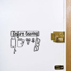 Before Leaving Checklist Sticker #tech #flow #gadget #gift #ideas #cool