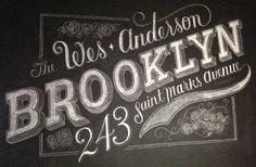 campsite | typography #type #lettering #chalk #typography