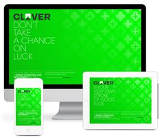The digital+print visual identity for Clover, a mobile development studio from Zagreb, Croatia. MORE AT > https://www.behance.net/gallery/1 #luck #croatia #fresh #design #clean #digital #brand #behance #identity #zagreb #web #green