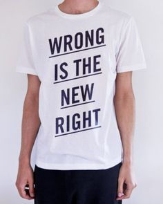 Benny Arts #wrong #typography #shirt #benny #arts #right #new