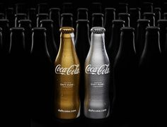 Coca-Cola x Daft Punk : Lovely Package . Curating the very best packaging design. #punk #silver #design #cola #coca #daft #gold #package