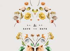 Miss Moss #invitation #flowers #save the date