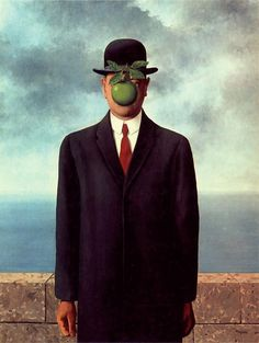 "Surrealism painting called ""The son of man"" Rene Magritte #surrealism #surrealistic #painting #paintings"