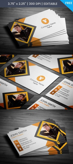 Free Journalist With Photo Business Card Template