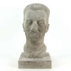 Harald Stephan: Frédéric Joliot-Curie, Portrait-Büste, Unikat