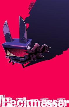 Lucky Invader:Hackmesser on Behance #illustration #design #character