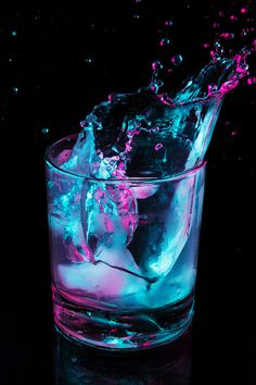 28,368 notes #glass #neon #splash
