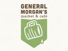 Cafe and Market #mark #vector #identity #symbol #coffee #logo #green