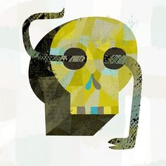 skull & snake | Dante Terzigni Illustration #snake #illustration #texture #skull