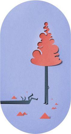 Eiko Ojala » Forest #cut #illustration #nature #forest #paper