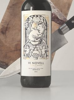 Vi Novell 2011 : Javier Suárez #wine #illustration #label #pig