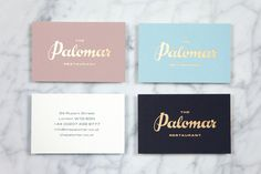 The Palomar #stationary #businesscard #gold #foil