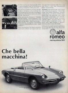 Alfa Romeo ads | Cartype #1968 #alfa romeo #duetto spider