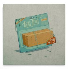 Smithe #brick #packet #illustration #art #package