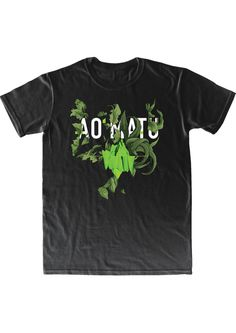 AO MATU t-shirt. Wild and tropical with flora design by Nastya KFKS. KFKS STORE. #tshirt #print #green #black #style #fashion #island #flora