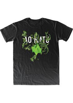 AO MATU t-shirt. Wild and tropical with flora design by Nastya KFKS. KFKS STORE. #tshirt #print #green #black #style #fashion #island #flora