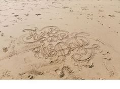 I N D I A H O B S O N : P H O T O G R A P H E R #lettering #sand #made #type #beach #hand #typography