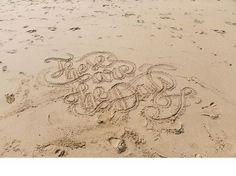 I N D I A H O B S O N : P H O T O G R A P H E R #lettering #sand #made #type #beach #hand #typography