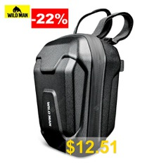 WILD #MAN #Electric #Scooters #Bicycles #Front #Bag #with #Hard #Shell #Protection #- #BLACK