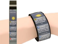 The Watch-Me smart watch is a concept of how future watches may look like - full-body screen, multi-touch operation, and real time environme