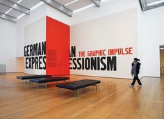 German Expressionism The Department of Advertising and Graphic Design #gallery #exhibition #environmental #graphics #moma