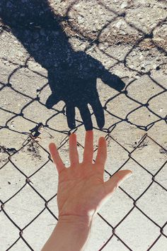 http://off-the-wall-b.tumblr.com/ #photography #hand #fence #shadow
