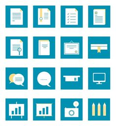 set di icone gratuite per curriculum vitae #cv #free #icons #graficheria