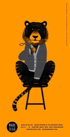 design work life » cataloging inspiration daily #illustration #tiger