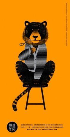 design work life » cataloging inspiration daily #illustration #tiger
