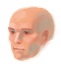 kyletwebster:Attention, digital artists I will be selling a Photoshop 6 brush pack soon with paint and ink brushes that I have been using #head #digital #illustration #expression #visage #painting #study #man #face #drawing #bald