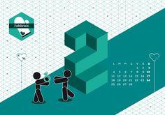 Calendario Algoritmo 2013 by o-zone , via Behance #illustration #vectors #illustrated #vector illustration
