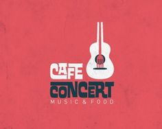 3.logo design #guitar #funky #design #retro #food #cafe #identity #music #logo #clever #concert