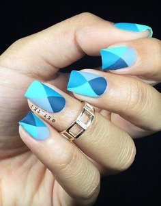 40 Geometric Nail Art Ideas   Art and Design