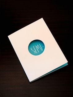 SEMI- (book) on the Behance Network #circle #book #cover #shape #type