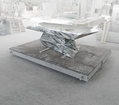 Loris, a table hidden in the marble (update) on Behance