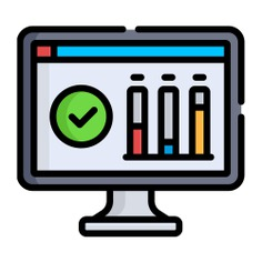 See more icon inspiration related to screen, elections, stats, graphs, charts, statistics, business, monitor, technology and computer on Flaticon.
