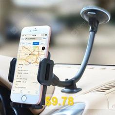 Rotary #Windshield #Dashboard #Car #Mount #Phone #Holder #- #BLACK
