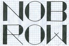 Nobrow – Micah Lidberg #lidberg #micah #drawn #logo #nobrow #typography
