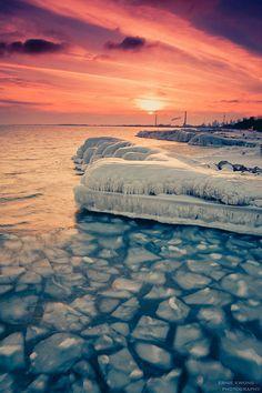 photo #ice #orange #fire